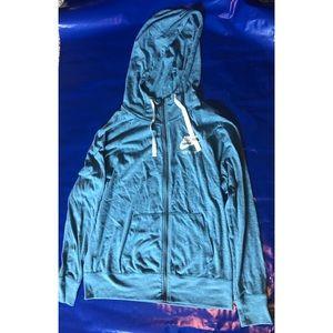 Nike Zip Up Hoodie Lightweight Jacket